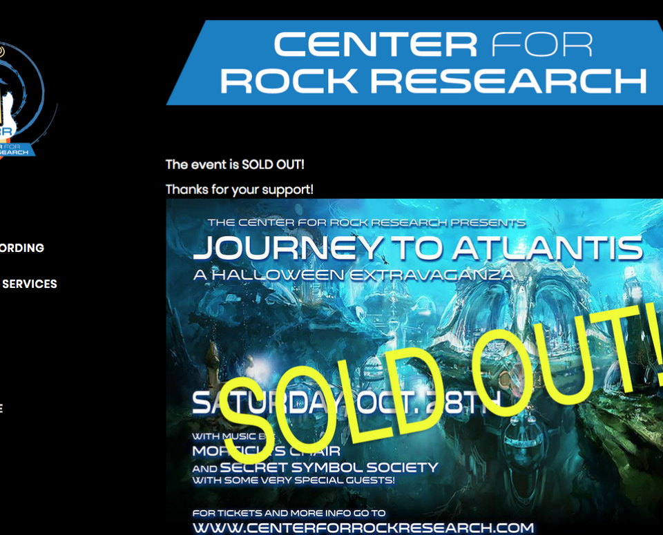 Center for Rock Research Website