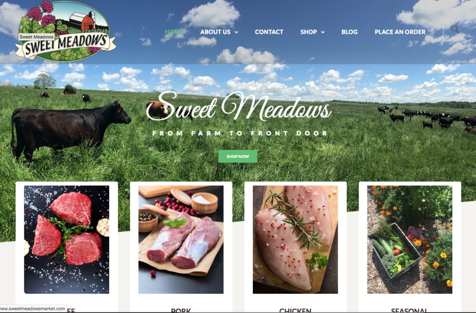 Sweet Meadows Website