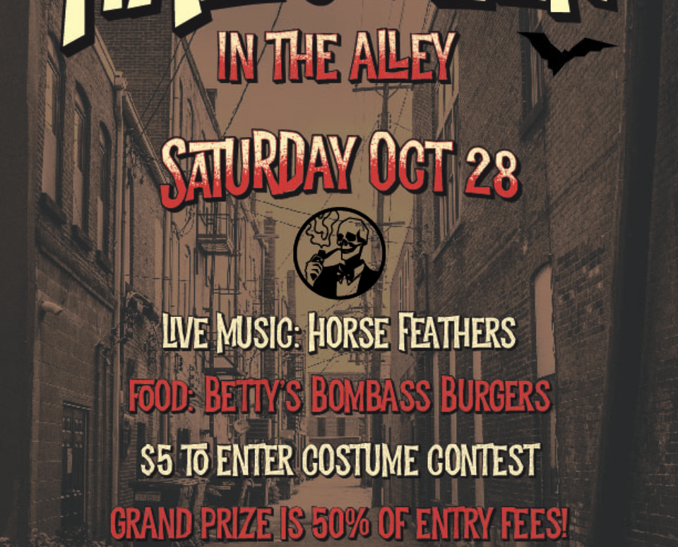 Halloween in the Alley Poster